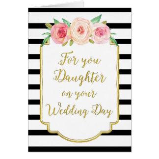 Vintage Floral Daughter Wedding Congratulations Card