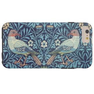 Vintage floral de los pájaros azules de la funda de iPhone 6 plus tough