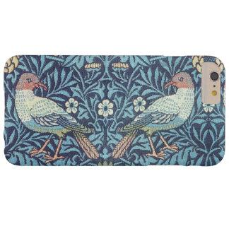 Vintage floral de los pájaros azules de la funda de iPhone 6 plus barely there