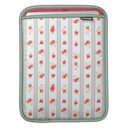 Vintage floral de los rosas elegantes lamentables manga de iPad