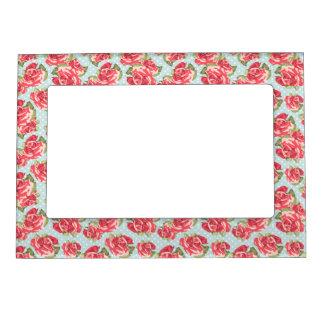 Vintage floral de los rosas elegantes lamentables  marcos magneticos para fotos