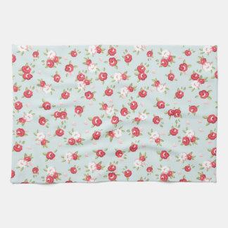 Vintage floral de los rosas elegantes lamentables toallas