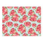 Vintage floral de los rosas elegantes lamentables  postales