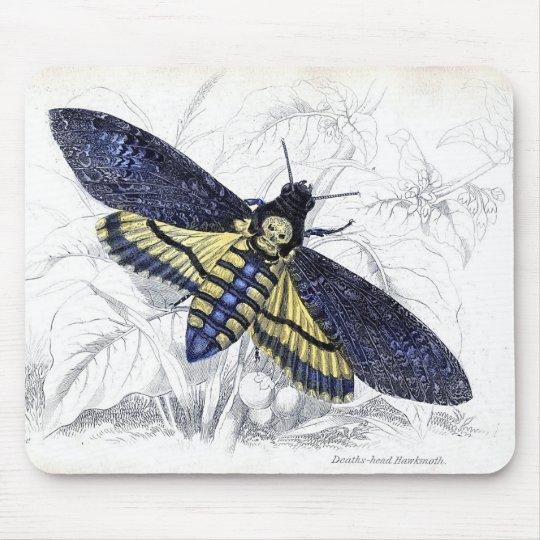 Vintage Floral Deaths Head Hawkmoth Mouse Pad