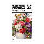 Vintage Floral Decor Postage Stamps