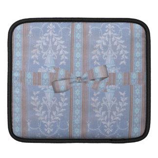 Vintage Floral Decor Wallpaper Pattern Blue Brown Sleeve For iPads