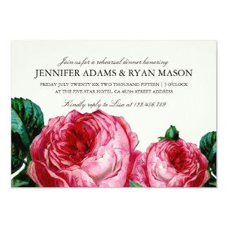 VINTAGE FLORAL DECOUPAGE REHEARSAL DINNER INVITE