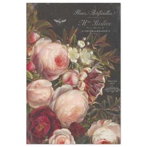 Vintage Floral Decoupage Tissue Paper