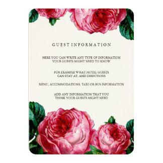 VINTAGE FLORAL DECOUPAGE WEDDING INSERT CARD