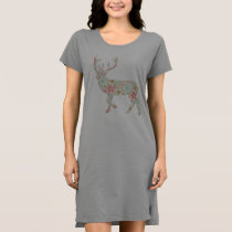 Vintage Floral Deer Dress