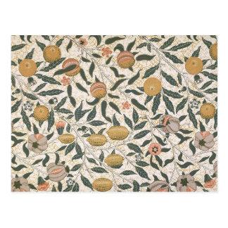 Vintage floral del diseño de la granada de William Tarjeta Postal