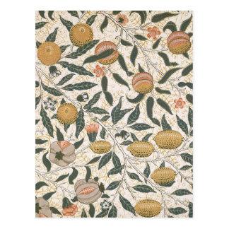 Vintage floral del diseño de la granada de William Tarjetas Postales