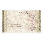 vintage floral del país de la flor de cerezo elega plantillas de tarjeta de negocio