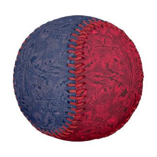 Vintage Floral Denim Blue and Red Baseball