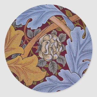 Vintage Floral Design Acanthus Leaves Classic Round Sticker