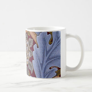 Vintage Floral Design Acanthus Leaves Classic White Coffee Mug