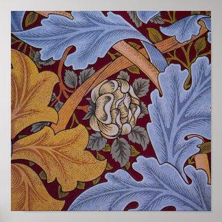 Vintage Floral Design Acanthus Leaves Print