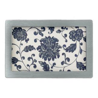 Vintage floral design belt buckle