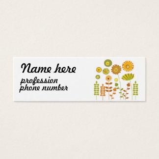 Vintage floral design business card