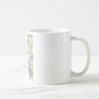 Vintage floral design coffee mug