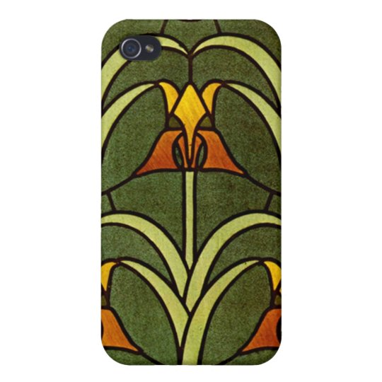 Vintage Floral Design Cover For iPhone 4