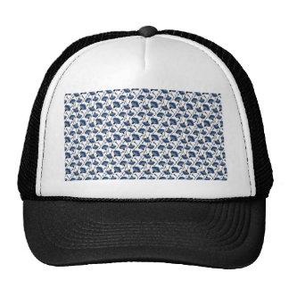 Vintage floral design trucker hats