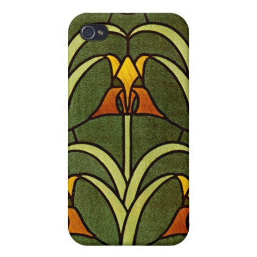 Vintage Floral Design iPhone 4/4S Covers
