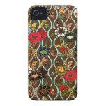 Vintage Floral Design iPhone 4 Case