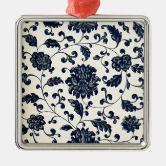 Vintage floral design metal ornament