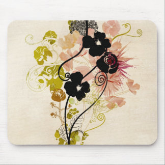 Vintage floral design Mousepad