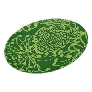 Vintage Floral Design Party Plate