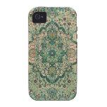Vintage Floral Design Persian Carpet Motive iPhone 4/4S Cases