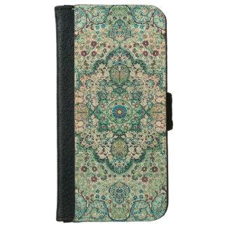 Vintage Floral Design Persian Carpet Motive iPhone 6 Wallet Case