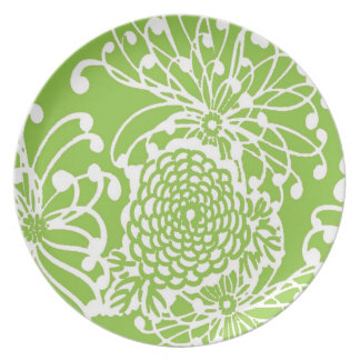 Vintage Floral Design Dinner Plates