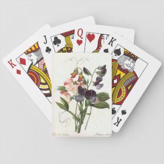 Vintage Floral Design Playing Cards
