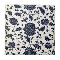 Vintage floral design tile