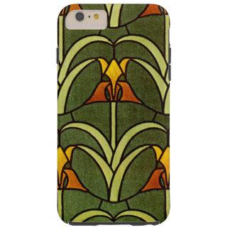 Vintage Floral Design Tough iPhone 6 Plus Case