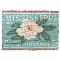 Vintage floral design travel blanket