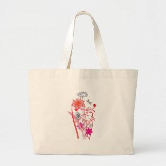 vintage floral design with dragonfly bag