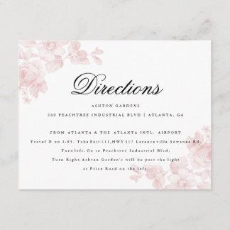 Vintage floral | Directions card
