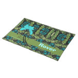 Vintage Floral Dog Personalized Placemat