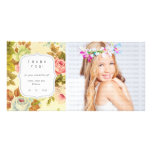 Vintage Floral Dreams - Any Occasion Thank you Photo Card Template