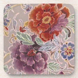 Vintage Floral Drink Coaster
