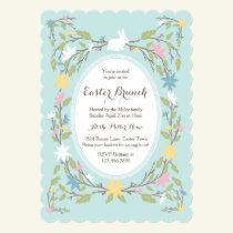 Vintage Floral Easter Invitation