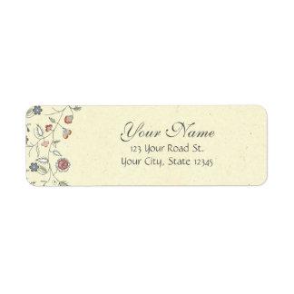 Vintage Floral Edging Label