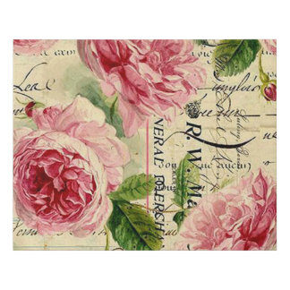 Vintage floral elegant foam canvas print