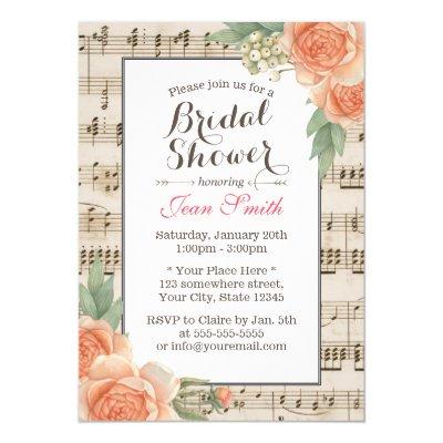 Musical Notes Wedding Invitation