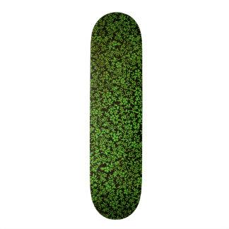 Vintage Floral Emerald Green Flowers Custom Skateboard