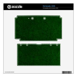 Vintage Floral Emerald Green Leaf Nintendo 3DS Skins