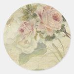 vintage floral etiqueta